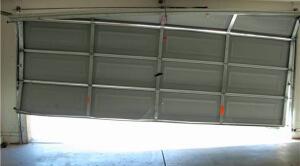 Broken Cable On Residential Garage Door 300x166